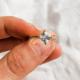 White Sapphire Twist Ring